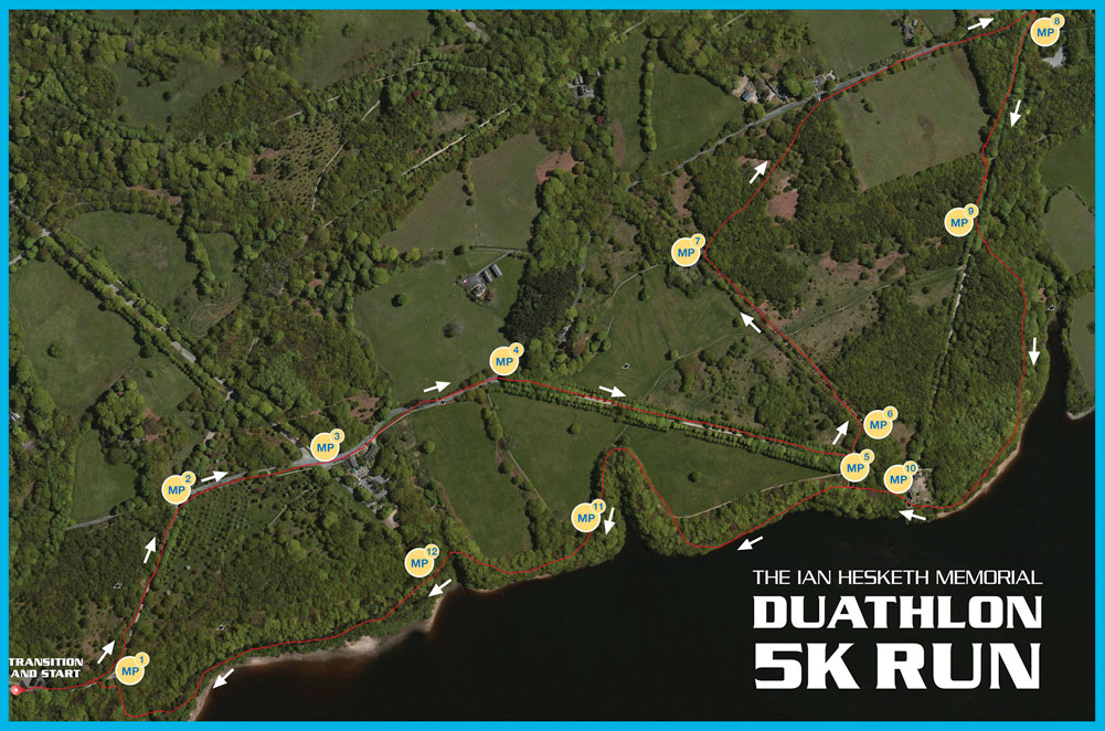 5k Trail Run Map for Marshals