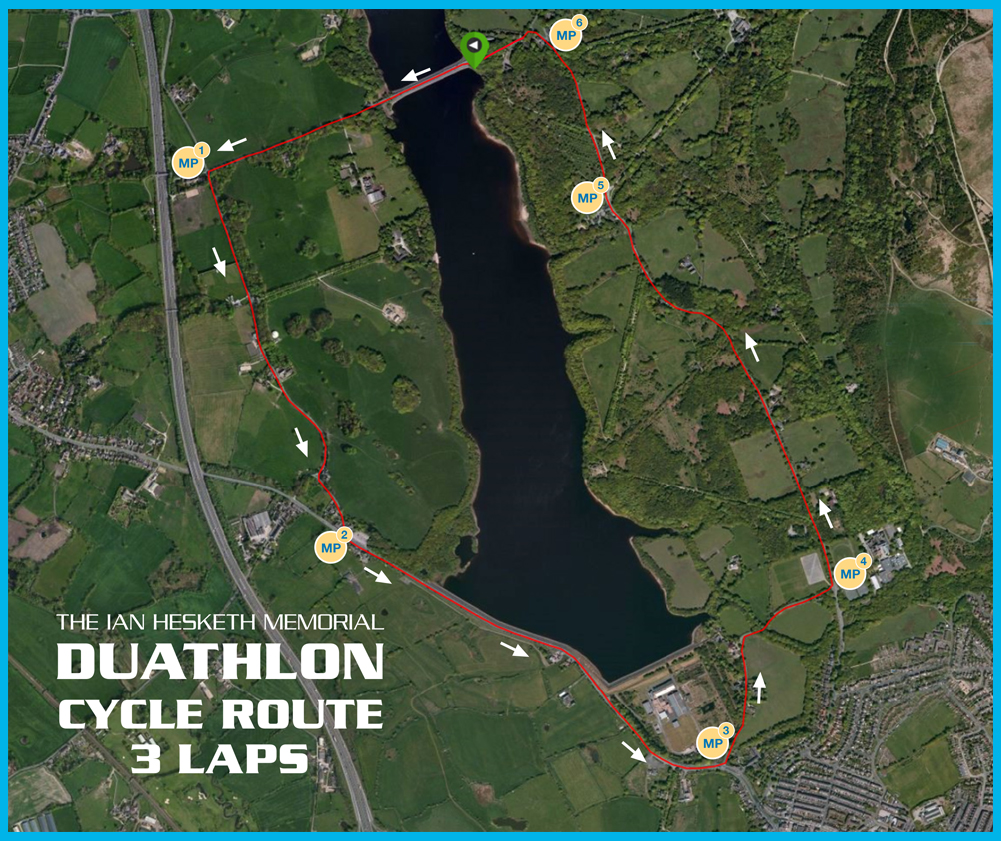 22k Cycle Course Map for Marshals